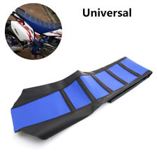 Universal Leather Gripper Soft Motorcycle Seat Cover Rib Skin Rubber Dirt Bike