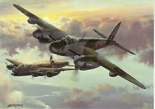 de Havilland Mosquito Pathfinder ? RAF Lancaster Bomber Greeting card art