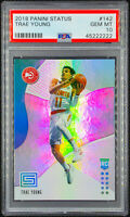 2018-19 TRAE YOUNG PANINI STATUS #142 ROOKIE RC PSA 10 POP 43 !