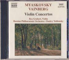 Myaskovsky, Vainberg - Grubert, Yablonsky: Violin Concertos (Naxos) New