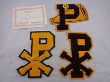 Vtg VARSITY LETTER  PATCH St Pius X High School College Cheerleading Captain Lot