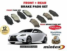 FOR LEXUS IS250 IS300H HYBRID 2013 > NEW FRONT + REAR BRAKE DISC PADS SET