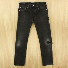 faded & distressed vtg usa made LEVI's 501 jeans 31 x 30 tag black hesher #7