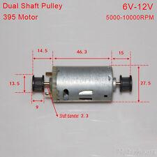 Dual Double shaft Pulley 6V-12V 10000RPM 395 Motor DIY Model Toy Car Hobby Motor