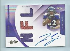 TORREY SMITH 2011 ABSOLUTE MEMORABILIA RC DUAL JERSEY BALL AUTOGRAPH AUTO /299
