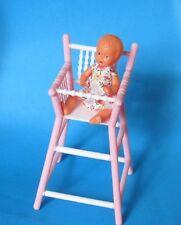 Muñecas de plástico silla alta con muñeca casa de muñecas accesorios panorámica, nº 27172