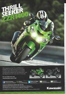 an Original 2012 Magazine Advertisement for the Amazing Kawasaki ZZR1400