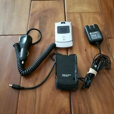 Motorola Razr V3 Gsm At&T/Cingular Silver Quad band Cellular Phone Bundle Tested
