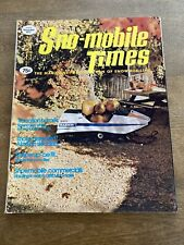 New Listing1971 November Snowmobile Times Magazine Southern Minnesota Bryan Gates