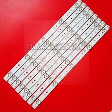 8pcs 5800-W43001-3P00 VER01.00 LED strip For 43E3000 43E3500 43E6000 E465853