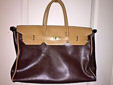 """VIA BORGOSPESSO """"JACQUELINE"""" Brown/Tan Leather Handbag Made In Italy MSRP $549"""