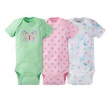 Gerber Girls 3-Pack Butterfly Onesies Size Newborn BABY CLOTHES SHOWER GIFT