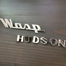 Vintage Wasp Hudson Chrome Grille Emblem Badge & Letters # 241185 9905