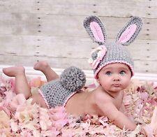 Neugeborenen Baby Fotografie Strick Mütze Kostüm Fotoshooting Häkelkostüm Hase