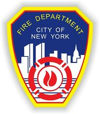 New York City Fire Department Sticker Waterproof Vinyl Decal Car Bumper Truck