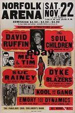 "David Ruffin / Soul Children Norfolk Arena 16"" x 12"" Photo Repro Concert Poster"