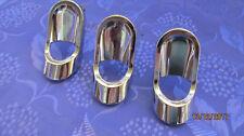 3 Art Deco/Vintage chrome handles.