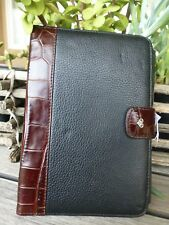 BRIGHTON NWT BLACK/BROWN LEATHER FLIP CASE