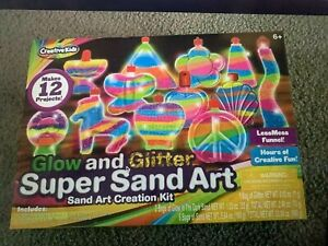 Glow And Glitter Super Sand Art Creation Kit Brand New Free Priority Shipping