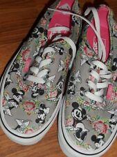 men 4.5  women 6 ~  Disney minnie Mouse mickey  ~  Vans shoes  EUC