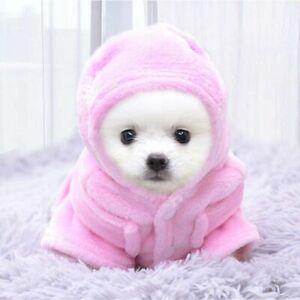 Pet Bathrobe Dog Soft Towel Puppy Hoodie Clothes Cat Bathrobes Nightgowns Pajama