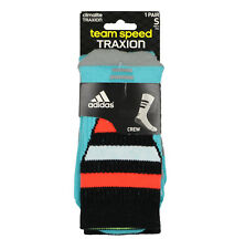18aab66815e5 1pr adidas Traxion Climalite Team Speed Coushioned Crew Socks - Mens womens  Sz S