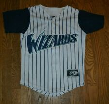 VTG Fort Wayne Wizards Button Up Baseball Jersey Youth Small Medium Throwback