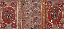 Australian Aboriginal Artwork Hunting bush Tucker  by famous Artist June Sultan