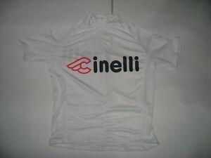 ITALIA BIKE JERSEY CINELLI BIKES ITALIAN SHIRT SIZE XL COOL ITALY WHITE MASH NR