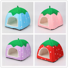 More details for guinea pig small animal bed snuggle pouch cuddle sack strawberry sleep bag