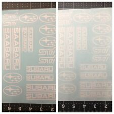 18pc Subaru Saabaru STI Assortment Vinyl Sticker Decal Logo Graphic Emblem
