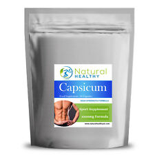 30 Capsicum 1000mg - Chilli Capsules - High Quality UK Made - Diet Supplement