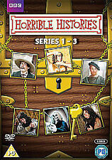 Horrible Histories Complete Series 1-3 (DVD) 6 Discs 18 Hrs 20 Mins