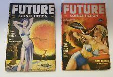 2 Future Science Fiction Vintage Magazines Pulp