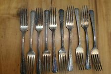10 SL & GH Rogers Co 1934 Sunrise Flatware Dinner Forks (Marked 2nd)