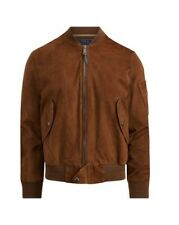Polo Ralph Lauren Suede Bomber Jacket Size Small