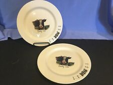 ORIGINAL WORLD OF JET COUNTRY COWS - 2 LUNCHEON PLATES, TER STEEGE NETHERLANDS