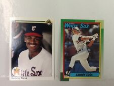 1990 Sammy Sosa Rookie Lot, 1990 Topps #692 and 1990 Upper Deck #17