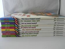 Lot of 9 Southwestern Ask Me Why Books Hardcover Dinosaurs Mammals Human Body