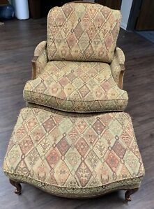 ETHAN ALLEN COUNTRY FRENCH VERSAILLES CHAIR + MATCHING OTTOMAN!!
