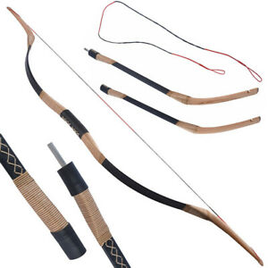 Archery Takedown Traditional Recurve Bow Handmade Wood Horse Bow 20-40lbs RH LH