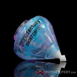 YoyoFactory Short Circuit  Galaxy Edition Purple Blue  color Fixed Axle Spintop