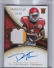 De'Anthony Thomas 2014 Panini Immaculate Patch Auto #135, 10/99