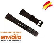 Correa de plastico negra para reloj Casio modelo F-91 18mm DE GOMA W59 Repuesto