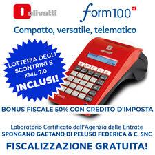 Olivetti Form 100 RT Registratore di Cassa Telematico - Rosso/Nero
