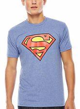 Superman Blue Performance T-Shirt DC Comics Superhero - Men's L - New w/Tags!
