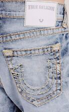 True Religion ROCCO SUPER T SKINNY Stretchy Jeans size 36 $369 FADED GALAXY
