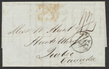 1850 Trans-Atlantic SFL London to Quebec Canada, 1/4 Cy Collect
