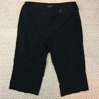Lane Bryant Women's Black Capri Cropped Pants Size 20 J80