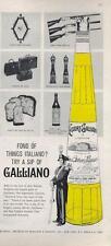1962 Italiano Galliano Liqueur Vintage Bottle Beretta Palladio Gucci  PRINT AD